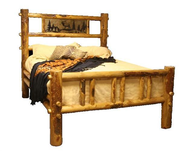 Rustic king size bed frame drawers log bed frames image for Affordable furniture utah