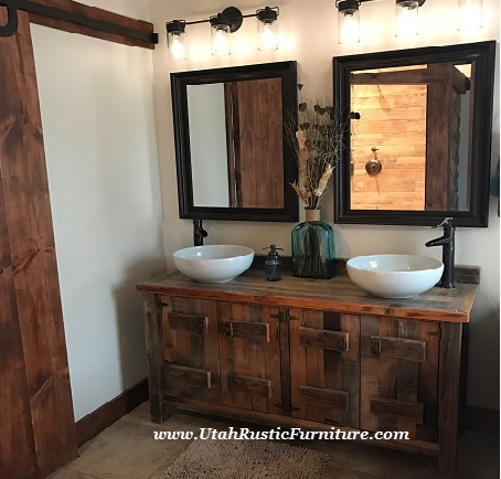 Note: The Pieces Featured On This Page Are Priced For The Vanity Only.  Visit This Page For Pricing And Information On Our Rustic Vanity Sink Bowls  And ...