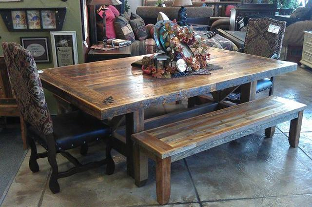 Elegant Barnwood Trestle Table