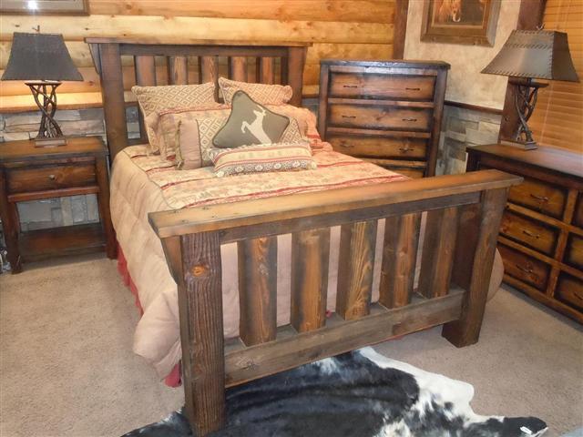 Image gallery king logs utah Log style beds