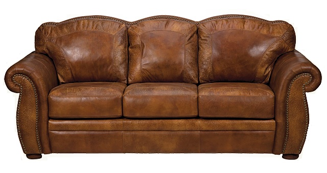 Bradley\'s Furniture Etc. - Artistic Leather Premium Rustic Sofas