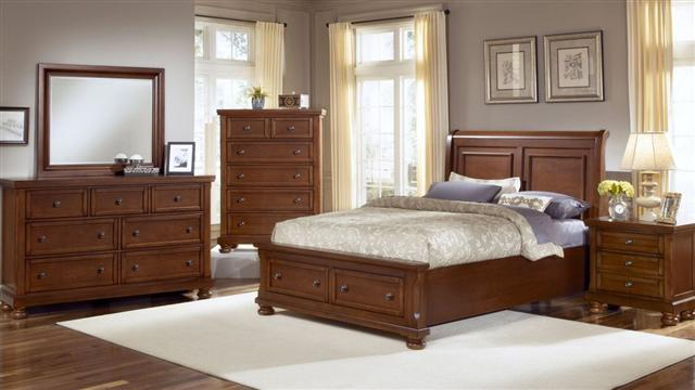 Reflections Hardwood Sleigh Collection Queen Bed 899