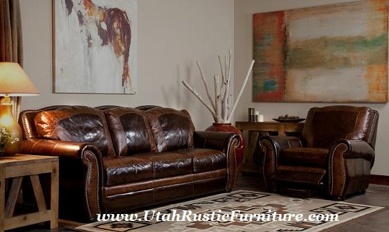 Artistic Leather Premium Rustic Sofas