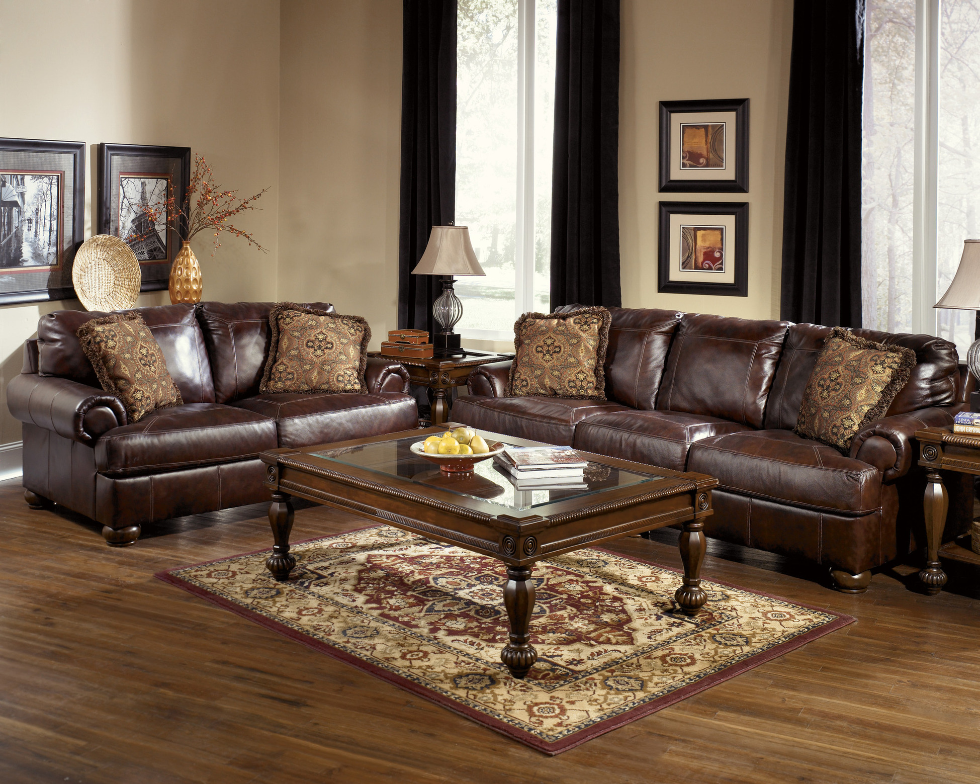Benchcraft Leather Rustic Sofas
