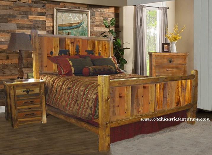 bradley's furniture etc  utah rustic bear paw barnwood