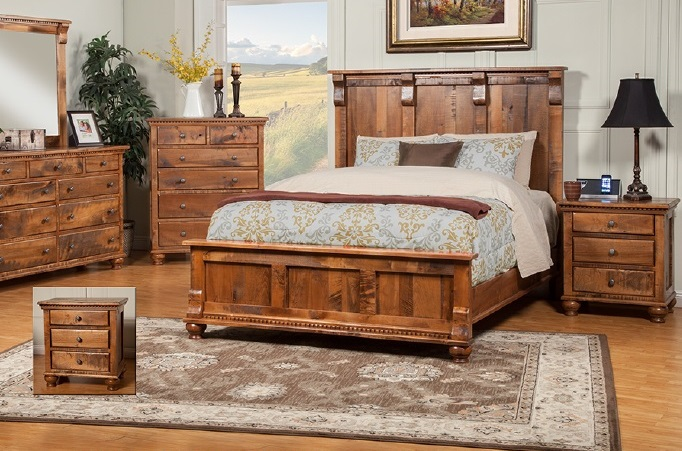 rustic king bedroom set king or cal king 4 quot longer amp 4 quot less wide bed discontinued 17017