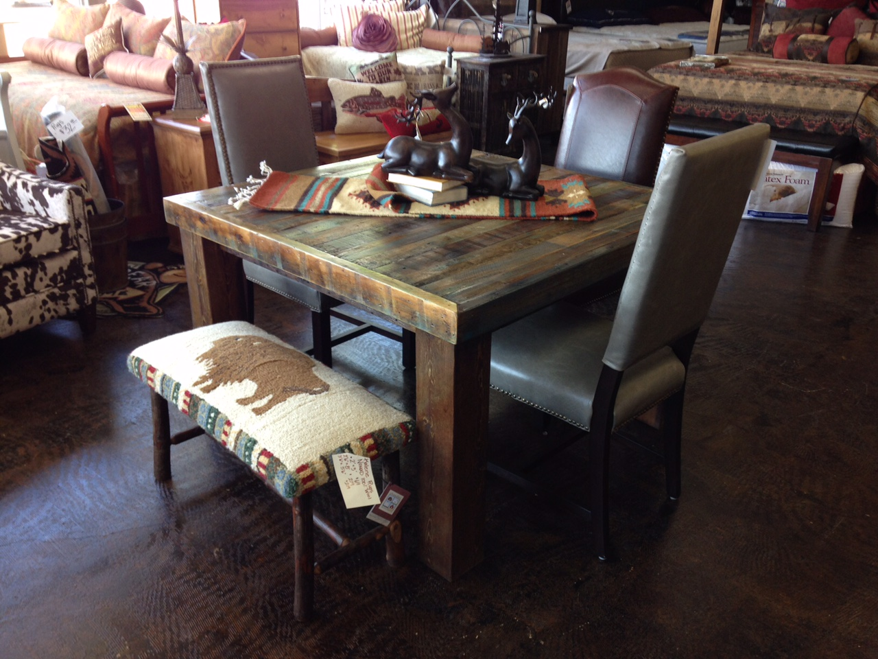 Picture of: Bradley S Furniture Etc Utah Rustic Dining Table Sets