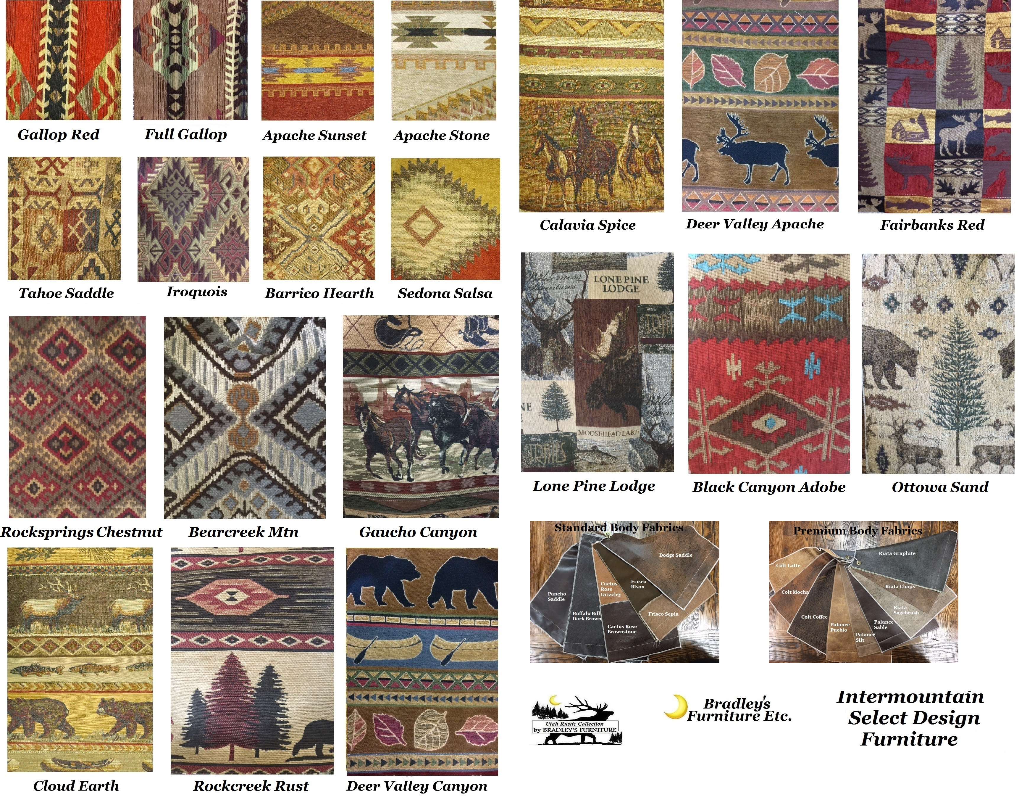 Bradley s Furniture Etc Intermountain Fabric Sectionals